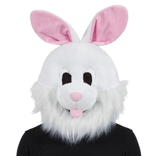 Adults Bunny Mascot Head Mask (Adult) for Rabbit Animals Easter Fancy Dress